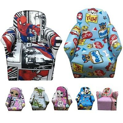 Kids Children's Chair Armchair Baby Sofa Seat Fabric Upholstered Playroom
