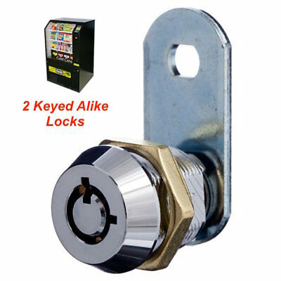 2 Position 16mm Tubular Cam Lock Pair To Suit Snackmate Vending Machines