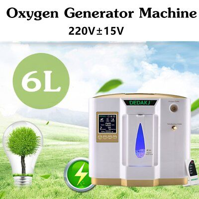 1L- 6L Oxygen Concentrator Portable Oxygen Generator Machine Adjustable 220V MG