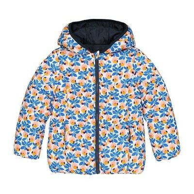 LA REDOUTE GIRLS REVERSIBLE HOODED PADDED JACKET AGE 5 YEARS NEW (ref 686) SALE