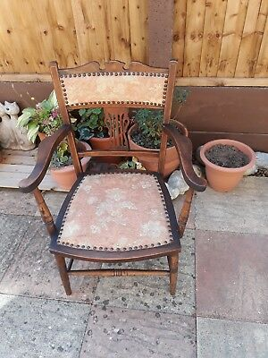 Edwardian Inlaid Elbow Chair.