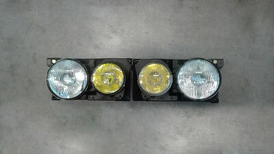 Fanali Fari anteriori headlights giallo Fiat Ritmo  130 TC ABARTH MK1 MK2 YELLOW