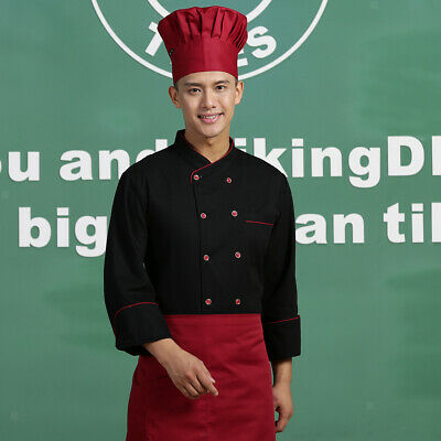 Unisex Restaurant Kitchen Chef Jacket with Long Sleeve for Normal Cooking Wear