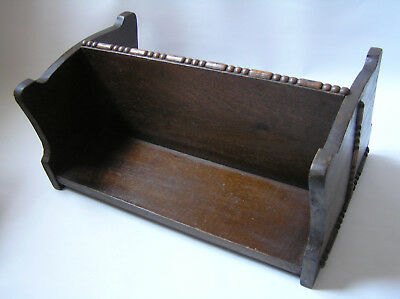 Unusual vintage double sided wooden book stand shelf
