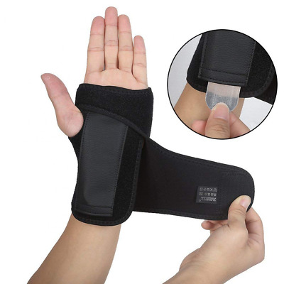Carpal Tunnel Wrist Brace with Removable Splint and Adjustable Support Wrap US