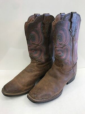48e2b791bb9 VTG BROWN ISRAEL BOOTS Western Cowboy Alligator Embossed Leather ...