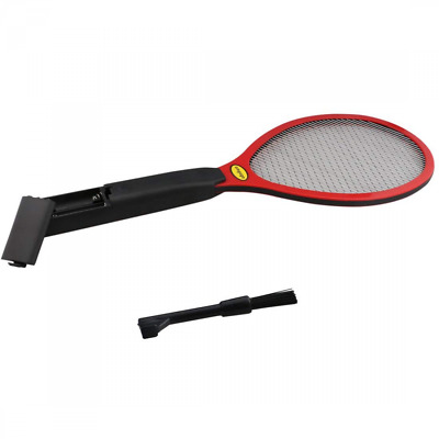 Electric Bug Zapper Fly Swatter Zap Mosquito 2 Layer Wire Net With Brush NEW