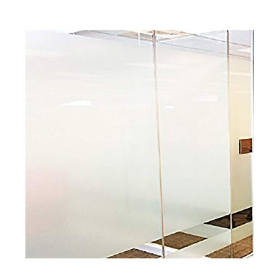 """17.7""""x78.7"""" Privacy Window Film Office Frosted Non Adhesive No Glue Static Cling"""