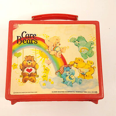 Aladdin Vintage Care Bears School Collectible American Greetings U.S.A. Lunchbox