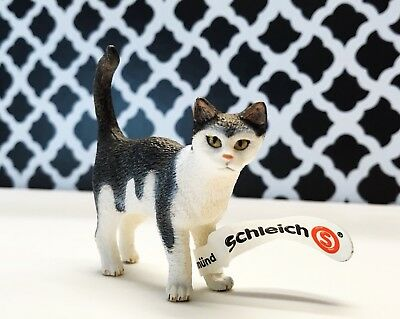 RETIRED* NEW *Schleich 13638 Cat Standing Model Toy Animal Model Figurine