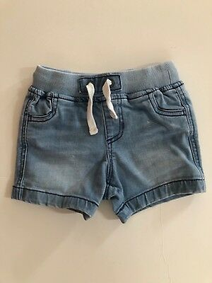 country road baby boys denim shorts - size 6 to 12 months - Size O