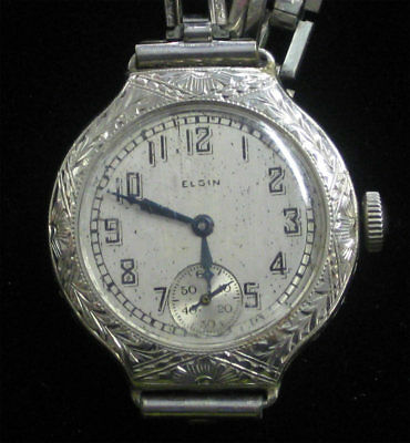 Vintage Elgin Ladies Watch Ornate Etched Art Deco Estate Gem Manual Gorgeous!