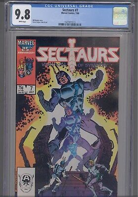 Sectaurs #7 CGC 9.8 1986  Marvel Comic: New Frame
