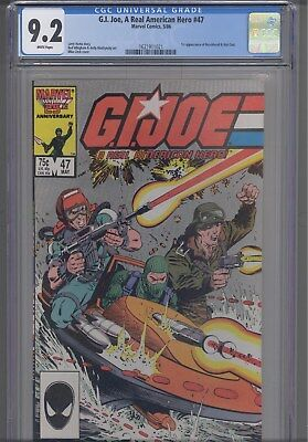 Gi Joe #47 CGC 9.2 1986 Marvel: First Beachhead and Wet Suit: New Frame