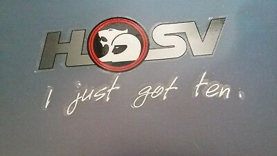 2 x Holden collectable HSV stickers