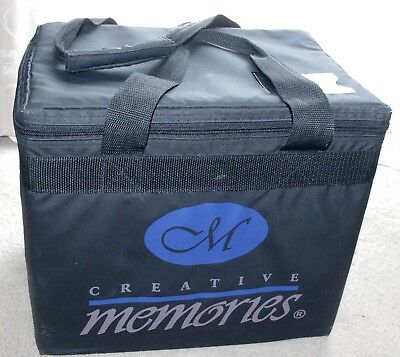 Creative Memories Paper Organiser Storage Box - Black - EUC (1)
