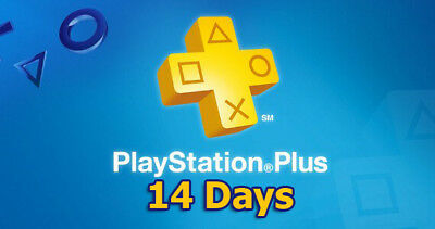 Psn Plus 14 Days - Ps4 - Ps3 -Ps Vita Playstation ( No Code)