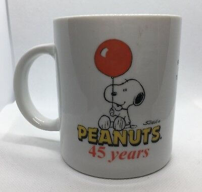 45 Years of  PEANUTS, Hungry Jacks Snoopy & Lucy Mug!