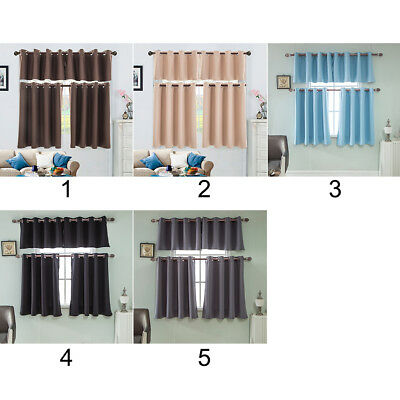2 Panels Blackout Soundproofing Thermal Insulation Window Curtain