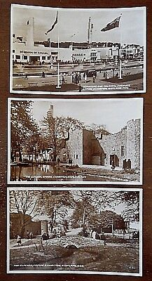 The Clachan,Empire Exhibition Scotland,1938 Real Photograph, x 3 Postcards