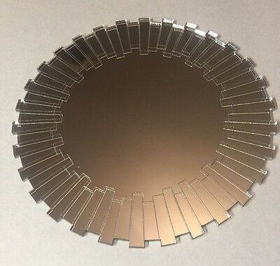 Modern Acrylic Mirror Shatter Resistant laser cut 3mm Round  Wall Decor