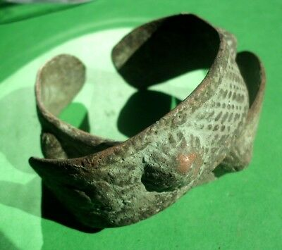 Pair Of Gorgeous Ancient Celtic Bronze Bracelets - 200 Bc - Extremely Rare!