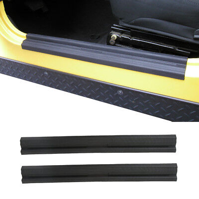 2Pcs Black Entry Guards Door Entry Sill Plate Guard For 97-06 Jeep Wrangler TJ