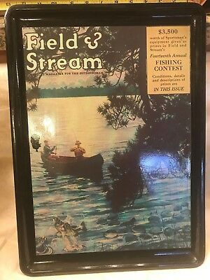 Vtg Tray Field & Stream Mag Cover July 1924 Platter The Heirloom Tradition 1987