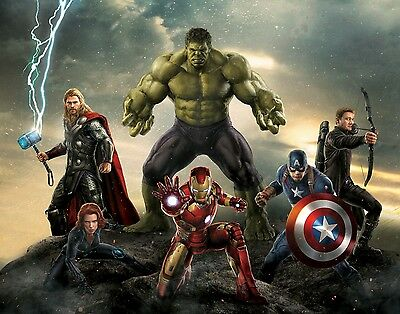 Marvel Superhero - Avengers Movie Large Wall Art Framed Canvas Picture 20x30Inch