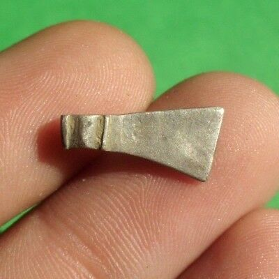 Ancient Celtic Silver Ax Axe Amulet -  Rare! 600 Bc