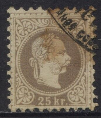 Austria 1878 25k Sc #39 Used but Stained CV $190