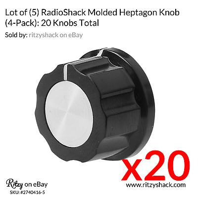 "1"" Molded Hexagonal  Knobs #274-0416 by RadioShack New. 5Pkg X 4 = 20."