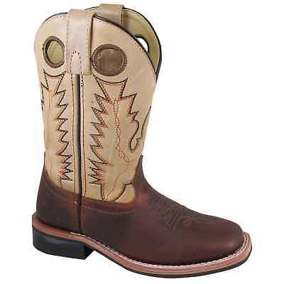 SMOKY MOUNTAIN 3663 Kid's Jesse Reddish Brown/Cream Cowboy