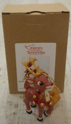 NIB Jim Shore Rudolph the Red-Nosed Reindeer Anniversary Ornament
