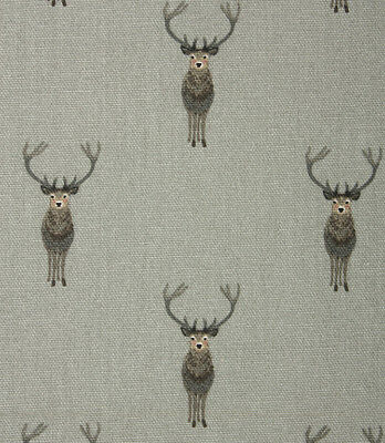 ROMAN BLIND in Sophie Allport WOODLAND STAG GREY Fabric MADE TO MEASURE