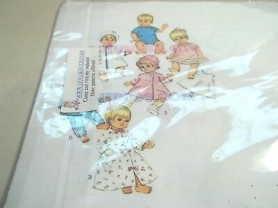 "Vintage Pattern to make Doll Clothes *Sewing* 9"" to 14"" doll"