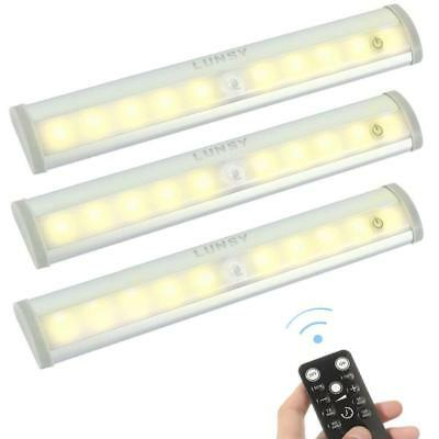 LED Remote Control Under Cabinet Lighting Wireless Battery Operated Closet Light