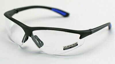 Elvex RX300™ Bifocal Safety/Reading Glasses Clear Lens 1.0 to 3.0 Magnification