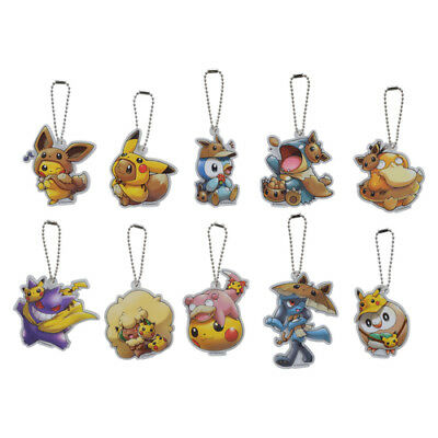 Pokemon center JAPAN - FAN OF Pikachu & Eevee -official Acrylic Charm collection