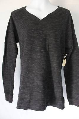 4cfbffa6b2c NEW NWT WOMENS Bobbie Brooks Black Long Sleeve Neck Detail Tunic Top ...
