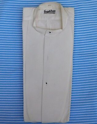 Starched Marcella dress shirt 15.5 Greensmith Downes tunic vintage 1920s 1930s