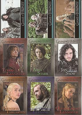 Game of Thrones Season 3 Trading Cards - Basis Set (98 Karten)
