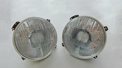 Coppia Fari Fiat 850 1100 124 Coupè 241 CARELLO - Couple of head lights