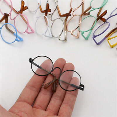 Round Frame Clear Lens Eyewear Glasses for 12'' Blythe Dolls Accessory Jx