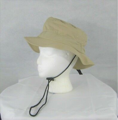 b38d8bb468b Nylon Bucket Hat Chin Strap Beige Guide Packable Crushable BIG ACCESSORIES  BX016