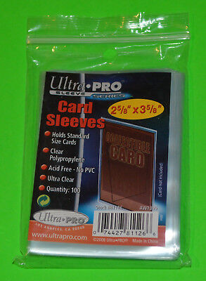 100 ULTRA PRO Soft Sleeves. Transformers YuGiOh Pokemon MTG Cards Deck Protector