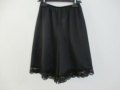 Vintage 100% Nylon Sheer Long Leg Bloomers Panties Pettipants Black Small Usa