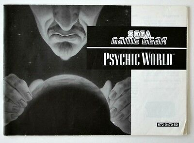 Sega Game Gear Psychic World booklet instruction manual