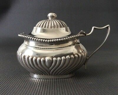Large Sterling Silver Master Mustard / Condiment Pot / Cellar