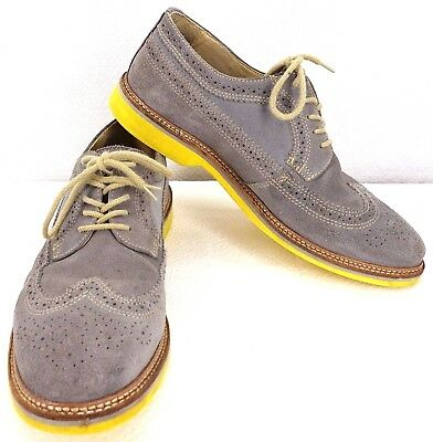 7863cda5425 1901 Mens Oxford Lace up Wing Tip Suede Casual Leather Dress Shoes M20411  Sz 10M